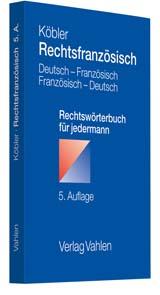 Rechtsfranzösisch | Köbler | Buch (Cover)